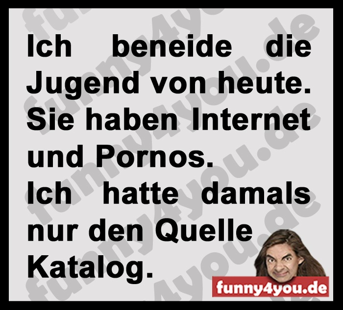 Funny Spruch - Quelle Katalog