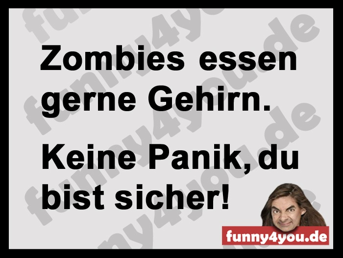 Funny Spruch - Zombies