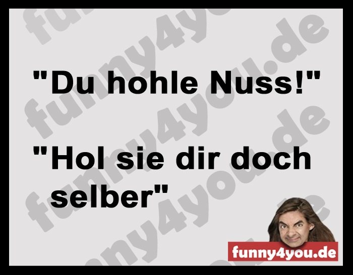Funny Spruch - hohle Nuss